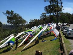Hang gliders, lookout, views, take-off, bushwalking