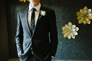 Black Jacket, Tie, Groom's Attire, Men's Suit Hire